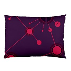 Abstract Lines Radiate Planets Web Pillow Case (two Sides)