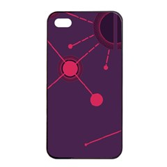Abstract Lines Radiate Planets Web Apple iPhone 4/4s Seamless Case (Black)