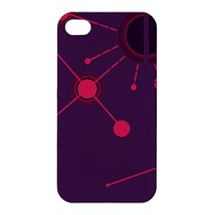 Abstract Lines Radiate Planets Web Apple Iphone 4/4s Hardshell Case