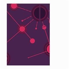 Abstract Lines Radiate Planets Web Small Garden Flag (Two Sides)