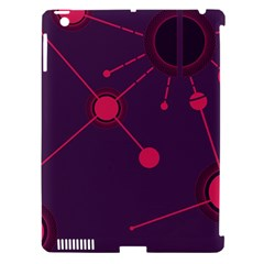 Abstract Lines Radiate Planets Web Apple Ipad 3/4 Hardshell Case (compatible With Smart Cover)