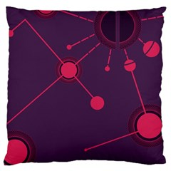 Abstract Lines Radiate Planets Web Large Cushion Case (one Side)