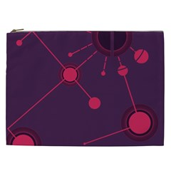 Abstract Lines Radiate Planets Web Cosmetic Bag (XXL)