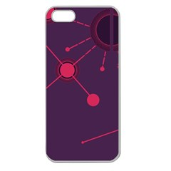 Abstract Lines Radiate Planets Web Apple Seamless Iphone 5 Case (clear)