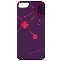 Abstract Lines Radiate Planets Web Apple iPhone 5 Classic Hardshell Case