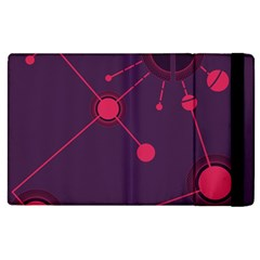 Abstract Lines Radiate Planets Web Apple iPad 3/4 Flip Case
