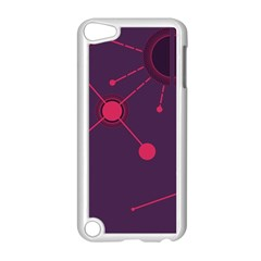 Abstract Lines Radiate Planets Web Apple Ipod Touch 5 Case (white)