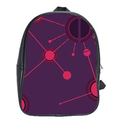 Abstract Lines Radiate Planets Web School Bags (XL)