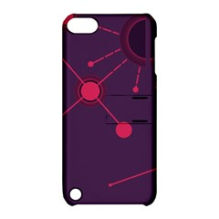 Abstract Lines Radiate Planets Web Apple Ipod Touch 5 Hardshell Case With Stand