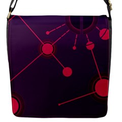 Abstract Lines Radiate Planets Web Flap Messenger Bag (S)