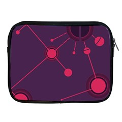 Abstract Lines Radiate Planets Web Apple Ipad 2/3/4 Zipper Cases