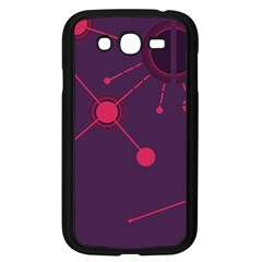 Abstract Lines Radiate Planets Web Samsung Galaxy Grand Duos I9082 Case (black)