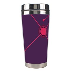 Abstract Lines Radiate Planets Web Stainless Steel Travel Tumblers