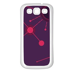 Abstract Lines Radiate Planets Web Samsung Galaxy S3 Back Case (white)