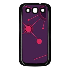 Abstract Lines Radiate Planets Web Samsung Galaxy S3 Back Case (Black)