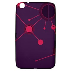 Abstract Lines Radiate Planets Web Samsung Galaxy Tab 3 (8 ) T3100 Hardshell Case
