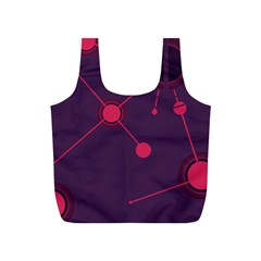 Abstract Lines Radiate Planets Web Full Print Recycle Bags (s)