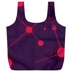 Abstract Lines Radiate Planets Web Full Print Recycle Bags (l)