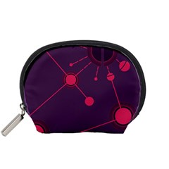 Abstract Lines Radiate Planets Web Accessory Pouches (small)