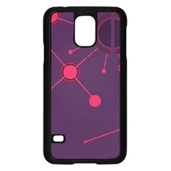 Abstract Lines Radiate Planets Web Samsung Galaxy S5 Case (black)