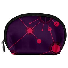 Abstract Lines Radiate Planets Web Accessory Pouches (large)