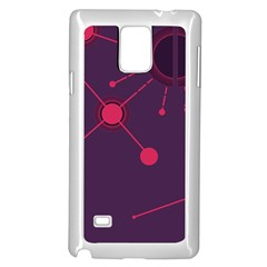 Abstract Lines Radiate Planets Web Samsung Galaxy Note 4 Case (White)