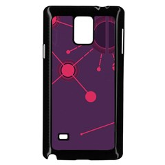 Abstract Lines Radiate Planets Web Samsung Galaxy Note 4 Case (black)