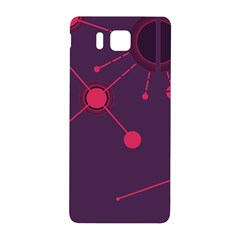 Abstract Lines Radiate Planets Web Samsung Galaxy Alpha Hardshell Back Case