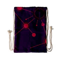 Abstract Lines Radiate Planets Web Drawstring Bag (Small)