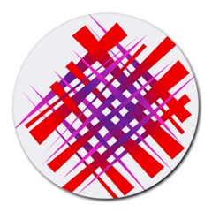 Chaos Bright Gradient Red Blue Round Mousepads