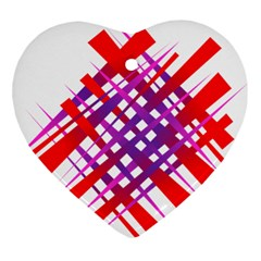 Chaos Bright Gradient Red Blue Ornament (heart)