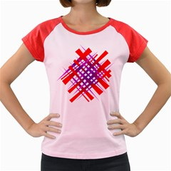 Chaos Bright Gradient Red Blue Women s Cap Sleeve T-Shirt