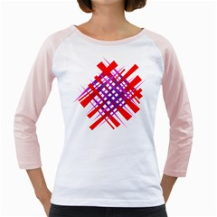 Chaos Bright Gradient Red Blue Girly Raglans
