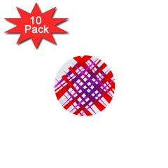 Chaos Bright Gradient Red Blue 1  Mini Buttons (10 Pack)