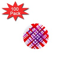 Chaos Bright Gradient Red Blue 1  Mini Magnets (100 Pack)