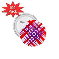 Chaos Bright Gradient Red Blue 1 75  Buttons (100 Pack)
