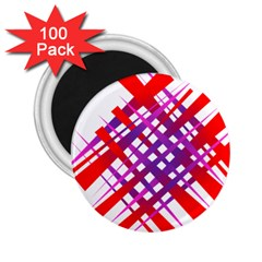 Chaos Bright Gradient Red Blue 2 25  Magnets (100 Pack)