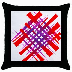 Chaos Bright Gradient Red Blue Throw Pillow Case (black)