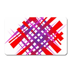 Chaos Bright Gradient Red Blue Magnet (Rectangular)