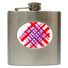 Chaos Bright Gradient Red Blue Hip Flask (6 Oz)