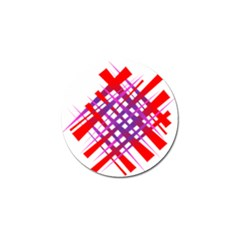 Chaos Bright Gradient Red Blue Golf Ball Marker