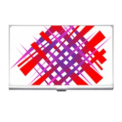 Chaos Bright Gradient Red Blue Business Card Holders