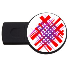 Chaos Bright Gradient Red Blue Usb Flash Drive Round (2 Gb)