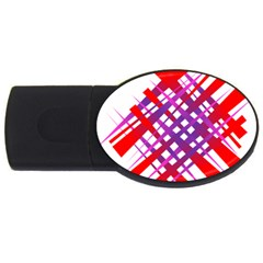 Chaos Bright Gradient Red Blue USB Flash Drive Oval (1 GB)