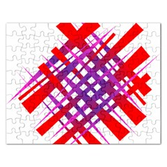 Chaos Bright Gradient Red Blue Rectangular Jigsaw Puzzl