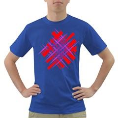 Chaos Bright Gradient Red Blue Dark T Shirt