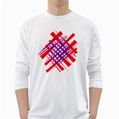 Chaos Bright Gradient Red Blue White Long Sleeve T-Shirts
