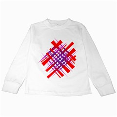 Chaos Bright Gradient Red Blue Kids Long Sleeve T Shirts