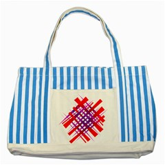 Chaos Bright Gradient Red Blue Striped Blue Tote Bag