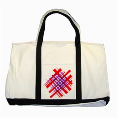 Chaos Bright Gradient Red Blue Two Tone Tote Bag